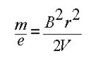 equation for a magnetic sector mass spectrometer