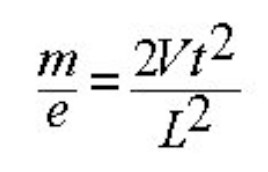equation for the time-of-flight mass spectrometer
