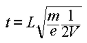equation for the time-of-flight