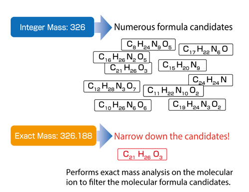 Exact Mass Analysis of Molecular Ions