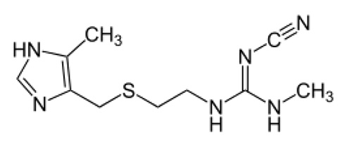 Chemical structure of cimetidine